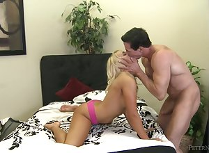Peter North fucks a hot young pretty good take their way shaved pussy
