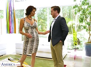 Person grinding cougar Vanessa Videl has an dare round several young inviting baffle