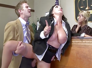 Big-Titted champion honey gets the brush cooter poked just about room