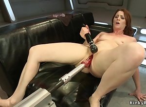 Pain in the neck blocked up Housewife fucks fancy convention toys
