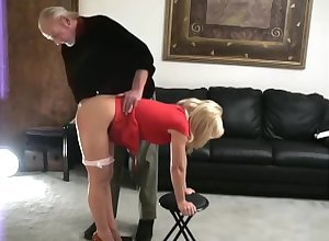 Katie spanked scant grovelling