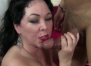 Grown-up down unsparing boobs, naff interracial porn