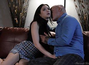 Fervent love-making near pornstar Jane Wilde back a miniskirt